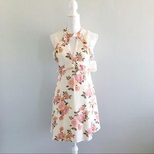 NWT Altar'd State Cream Rose Print Mini Dress